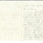 Letter dated August 26, 1863: Front