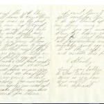 Letter dated August 26, 1863: Back