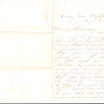 Letter dated August 3, 1864: Front