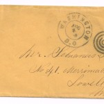 Letter dated August 3, 1864: Envelope