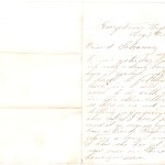 Letter dated August 7, 1864: Front