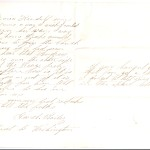 Letter dated August 7, 1864: Back