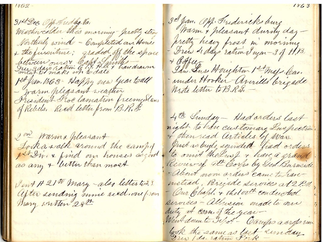 Henry S. Robinson Diary, January 1st -4th 1863