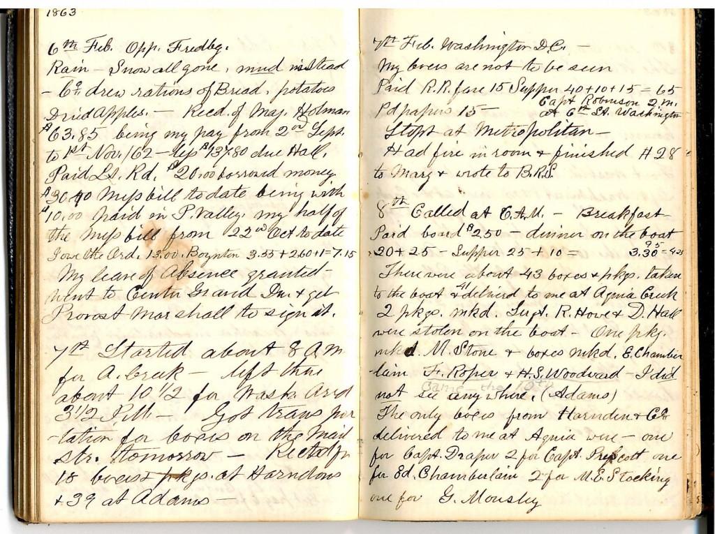 Feb 6-8 1863 Robinson