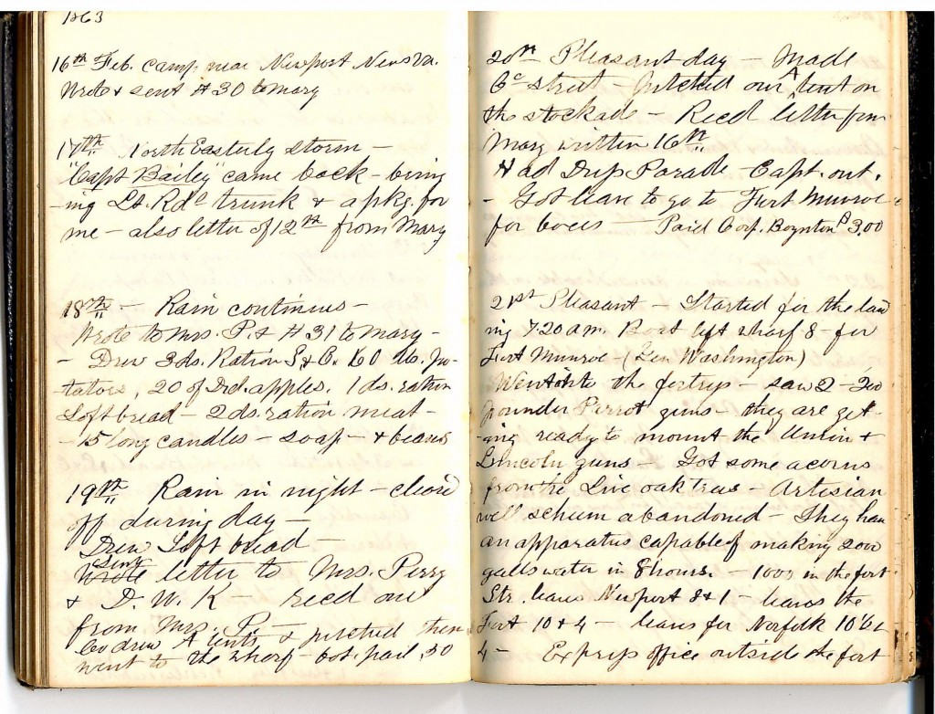 Feb 16-21 1863 Robinson