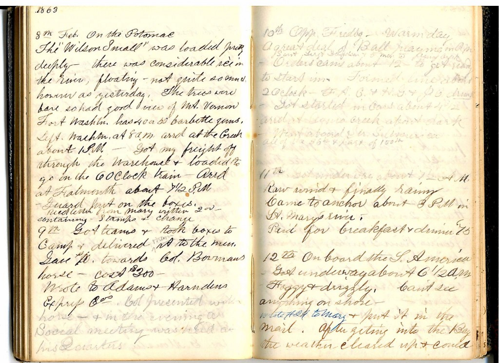 Henry S. Robinson Diary, February 8th -12th 1863